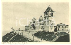 1930 ca ANCONA Veduta del Duomo e del suo campanile *Cartolina FP NV