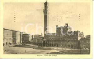 1933 SIENA Scorcio panoramico di PIAZZA DEL CAMPO *Cartolina FP VG