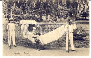1910 ca MADERA PORTOGALLO Rede - Colona sull'amaca *Cartolina FP NV