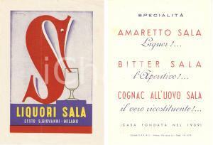 1946 SESTO SAN GIOVANNI (MI) Liquori SALA Illustrazione Mario GROS *Volantino