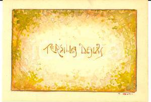 1910 ca ART NOUVEAU Bozzetto Tersilla DAVIS *Ill. T. BELLI Acquerellato a mano