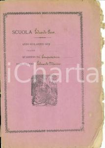 1879 NAPOLI Scuola Eduardo PESCE Quaderno computisteria Eduardo MARINO