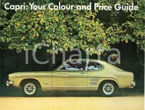 1968 FORD CAPRI Modelli colore e prezzi *Lotto due Pubblicità