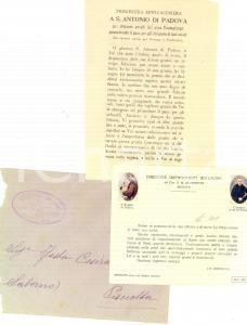 1935 MESSINA Offerte a Orfanotrofio Antoniniano can. A. M. DI FRANCIA