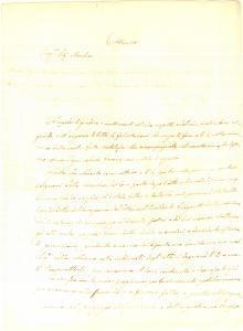 1841 MESSINA Don Ignazio VALENZA curatore eredità dei marchesi FRANGIPANE