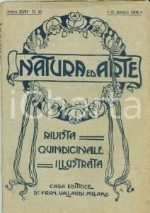 1908 NATURA ED ARTE Piroscafo PERSEO affondato Alberto di MONACO oceanografo