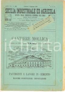 1924 SICILIA INDUSTRIALE AGRICOLA Agrumi CALIFORNIA fanno concorrenza a SICILIA