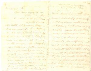 1878 FIRENZE Giuseppe BARELLAI Che botolino mi avevano sguinzagliato AUTOGRAFO