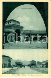 1930 ca PREDAPPIO NUOVA (FC) Mercato coperto e viale Benito MUSSOLINI  FP NV