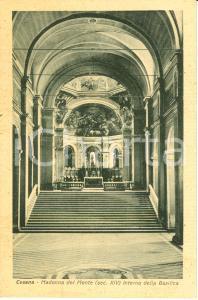 1930 ca CESENA (FC) Interno basilica MADONNA DEL MONTE Cartolina FP NV