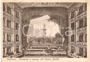 1940 FABRIANO (AN) Teatro GENTILE Proscenio e sipario Cartolina ANIMATA FG