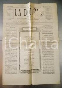 1897 ROMA Primo numero saggio LA BOHEME giornale letterario testata provvisoria