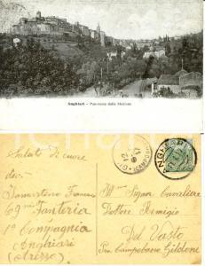 1917 ANGHIARI (AR) Panorama da stazione *Cartolina Francesco IAMARTINO Fanteria