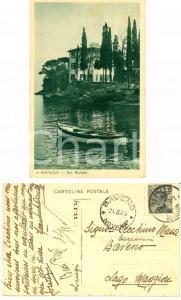 1929 RAPALLO (GE) Villa a SAN MICHELE *Cartolina a Francesco CAZZAMINI MUSSI