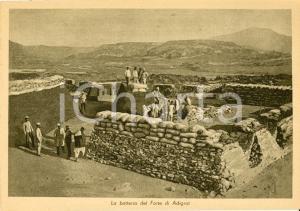 1935 FORTE DI ADIGRAT (ETIOPIA) AOI La batteria di difesa *Cartolina FG NV