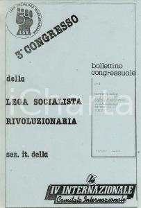 1981 LEGA SOCIALISTA RIVOLUZIONARIA Sezione di TORINO vuole annullare Congresso