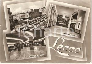 1959 LECCE Vedutine con interno teatro MASSIMO *Cartolina ANIMATA FG VG