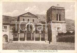 1926 CAPUA (CE) Basilica SANT'ANGELO IN FORMIS Animata *Cartolina FG NV
