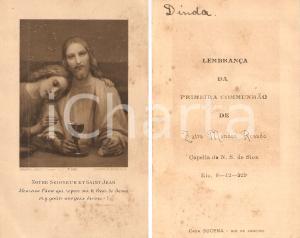 1929 RIO DE JANEIRO (BRAZIL) Prima Comunione Zaira MENDES ROSADO *Santino