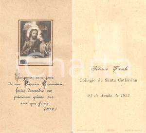 1933 FRANCIA Prima Comunione Ivonne FARAH a Collegio Santha Catharina *Santino