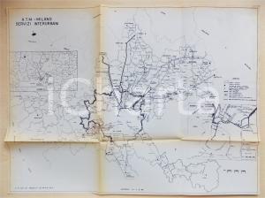 1983 MILANO ATM Mappa dei servizi interurbani tram metropolitana cm 56 x 42