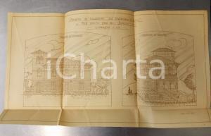 1926 CANTU' (CO) Progetto nuova palazzina Famiglia BORGHI cm 57 x 32