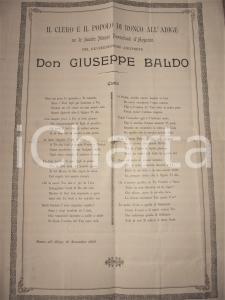 1902 RONCO ALL'ADIGE (VR) Beato Giuseppe BALDO nozze parrocchiali argento 34x49