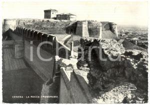 1954 CESENA (FC) Panorama con la Rocca *Cartolina postale FG VG