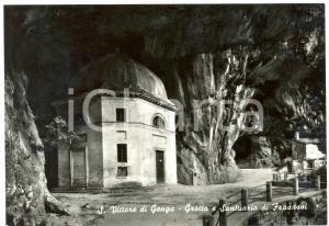 1955 ca GENGA (AN) Grotte e Santuario di FRASASSI a SAN VITTORE *Cartolina FG NV