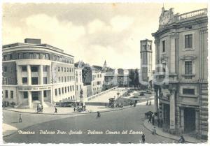 1956 MANTOVA Palazzo Previdenza Sociale e Casa del Lavoro *FG VG ANIMATA