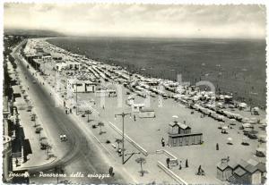 1955 PESCARA Panoramica della passeggiata con turisti *Cartolina FG VG ANIMATA