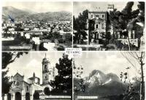1957 TERAMO Vedutine con CASTELLO DELLA MONICA *Cartolina FG VG