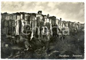 1953 VITORCHIANO (VT) Veduta panoramica *Cartolina postale FG VG