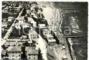 1953 GABICCE MARE (PU) Panorama dall'aereo *Cartolina FG VG ANIMATA con barche
