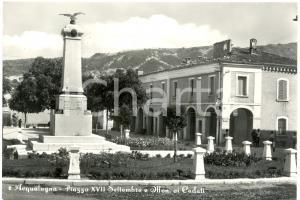1959 ACQUALAGNA (PU) Piazza ENRICO MATTEI  e monumento ai Caduti FG VG ANIMATA