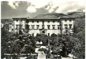 1952 CARPEGNA (PU) Palazzo dei PRINCIPI *Cartolina postale FG VG