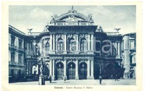 1943 CATANIA Teatro Massimo Vincenzo BELLINI *Cartolina postale FP VG ANIMATA