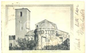 1900 ca LORO CIUFFENNA (AR) Pieve di SAN PIETRO a GROPINA *Cartolina FP VG