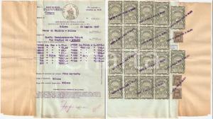 1947 MILANO Banco di SICILIA acquista azioni con 18 MARCHE *Documento
