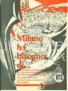 1981 MILANO PCI Propaganda politica Milano ha bisogno del partito Comunista