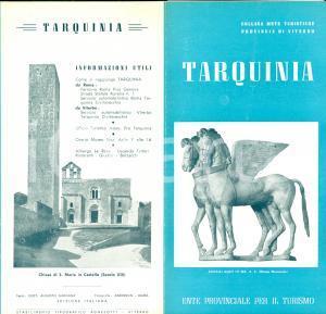 1950 ca TARQUINIA (VT) Itinerari e monumenti turismo ILLUSTRATO *Opuscolo