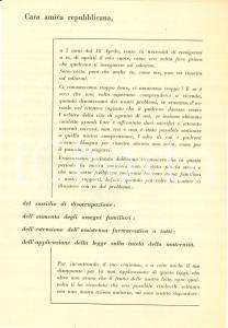 1953 ELEZIONI POLITICHE Donne non votate Partito Repubblicano PRI *Documento