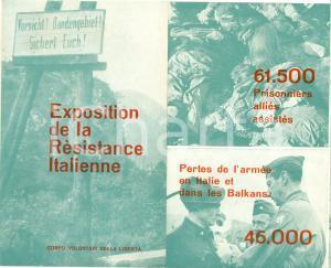 1946 PARIS Corpo Volontari Libertà Exposition Résistance Italienne ILLUSTRATO