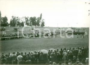 1955 ca SVIZZERA EQUITAZIONE Gara di galoppo all'ippodromo *Cartolina FG NV
