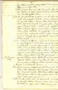 1802 MILANO Marchesa Marianna OTTOLINI dota la sua protetta Maria MALCHINETTI