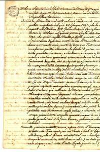 1803 MILANO Marchesa Marianna OTTOLINI lascia pizzi di Fiandra alla cameriera