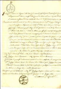 1814 MILANO Consenso a nozze di Paolo GALEAZZI con vedova Maria MALCHINETTI