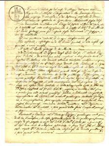1815 MILANO Procura a Paolo GALEAZZI per debiti eredi di Alberto PIZZIGONI