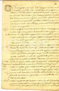 1805 MILANO Testamento marchesa Marianna OTTOLINI CRIVELLI CAVALLI *Manoscritto