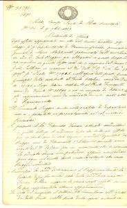 1847 MILANO LORETO Stima dei beni pignorati a Carlo RUGGERI albergatore